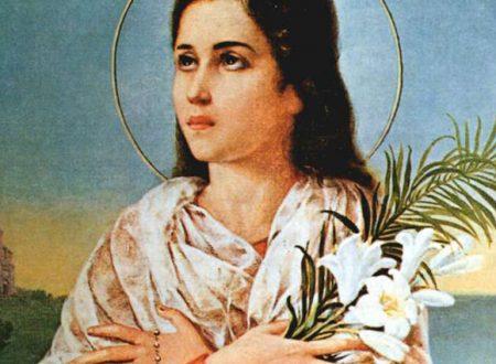 Invoca l'intercessione di Santa Maria Goretti per chiedere una grazia