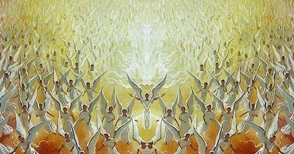 angeli moltitudine per corona angelica