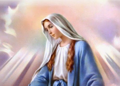 Ihe iriba-ama nke ebube na ịrapara na Mary