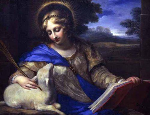 Sant'Agnese parla a Santa Brigida di una corona di sette pietre preziose