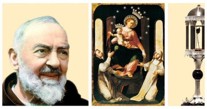 La Madonna di Pompei e la rosa di Padre Pio
