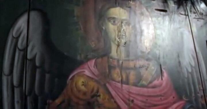 Grecia: lacrimazione da un icona di San Michele Arcangelo