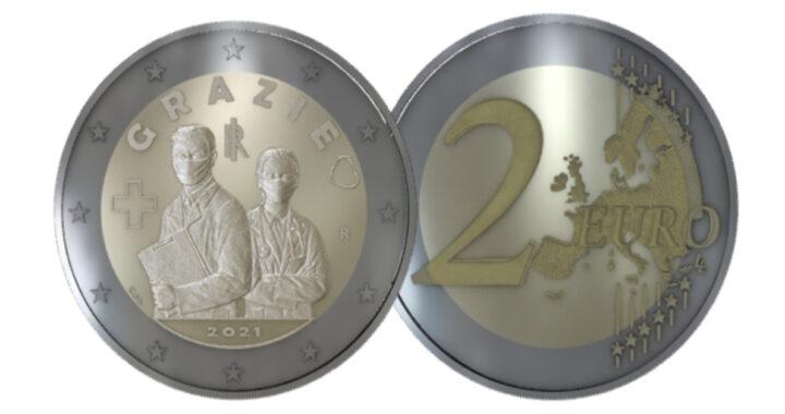 La nuova moneta italiana onorerà gli operatori sanitari