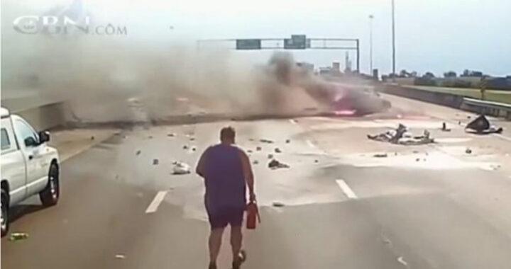 """Camionista corre verso un incidente pauroso, poi il miracolo: """"Dio mi ha usato"""" (VIDEO)"""