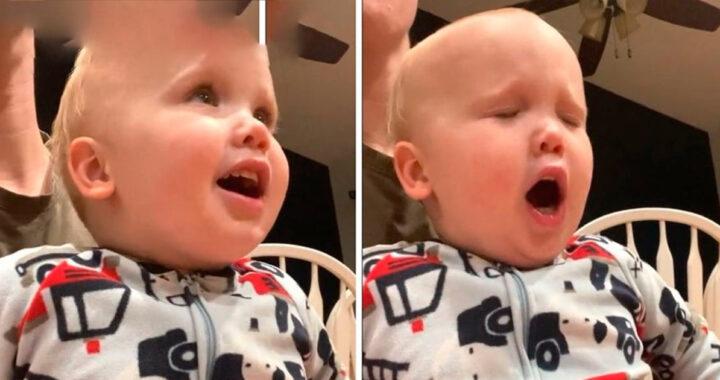 Bambino fa una dichiarazione potente mentre adora Dio (VIDEO)